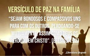 Versículo de paz na família