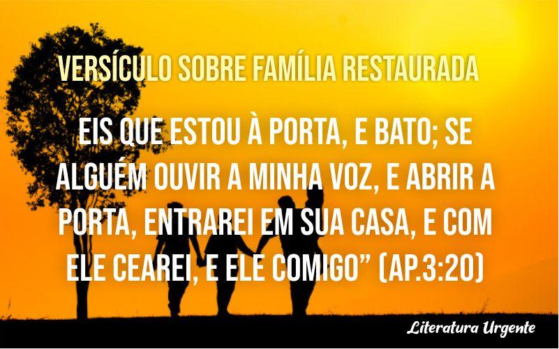 Versículo sobre família restaurada