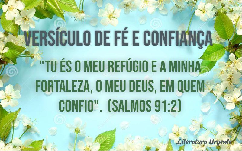 Versículos de fé e confiança em Deus