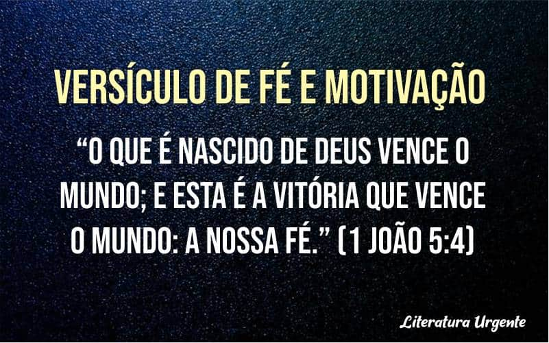 Versículos de fé e motivação