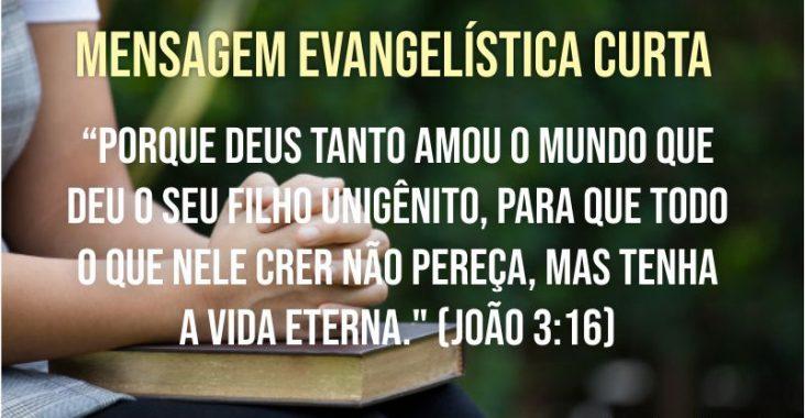 Mensagem evangelística curta