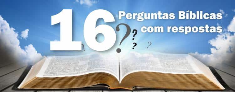 Perguntas Bíblicas fáceis médias e difíceis com respostas