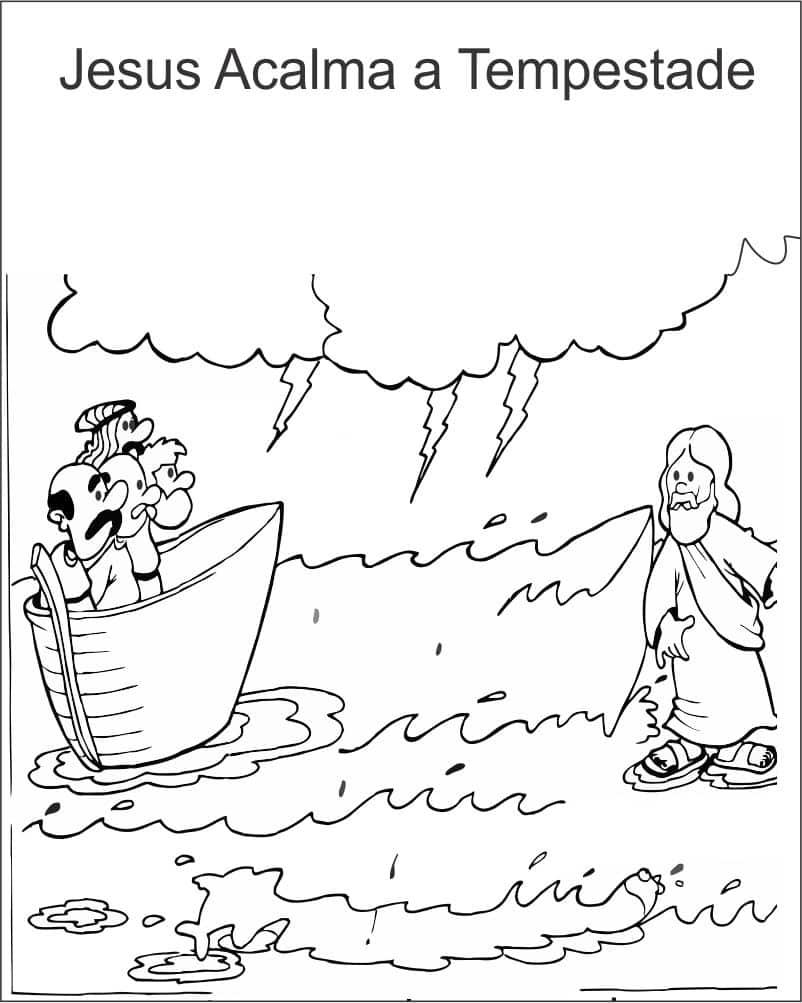 catequese jesus acalma a tempestade